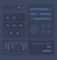 button black for web set vector image