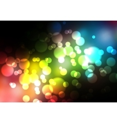 Glittering blurry lights against a black vector image