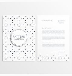 Letterhead design with minimal pattern vector