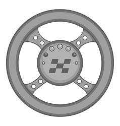 Racing rudder icon black monochrome style vector image