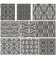 Set of antique seamless patterns vector image vector image