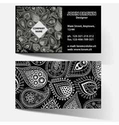 black business card vector image vector image