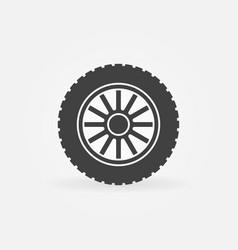 car wheel disc icon or symbol vector image