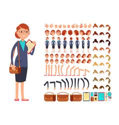 cartoon flat businesswoman character vector image vector image