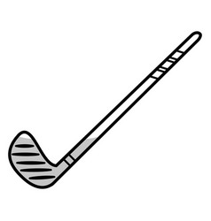 stick hockey equipment - shadow vector image vector image