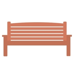 Wooden park bench vector image vector image