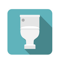 closed toilet seat vector image vector image