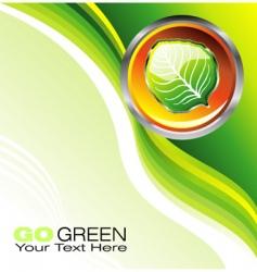 environmental business card vector image vector image