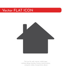 flat icon house for web business finance and vector image