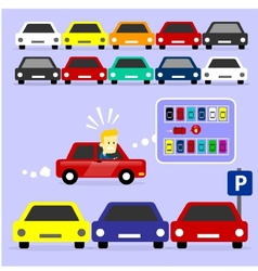 Parking Lot is Full vector image vector image