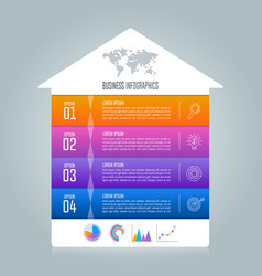 timeline infographic business concept vector image vector image