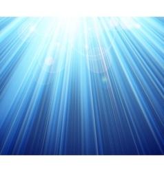 Blue shining magic light background vector image vector image