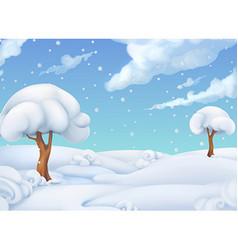 Christmas background Winter landscape 3d vector image vector image
