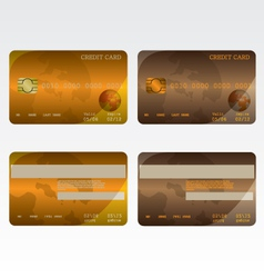 Credit card brown and orange vector image vector image