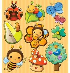 Cute Bugs vector image
