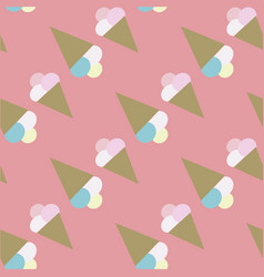 cute seamless ice cream pattern vector image