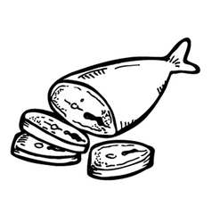 fish meat vector image vector image