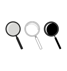 Magnifying glass tool set vector image vector image