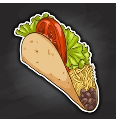 taco color picture sticker vector image