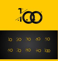 100 years anniversary celebration gradient yellow vector