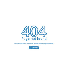 404 error page not found error concept page vector image