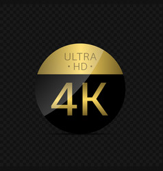 4k ultra hd label vector image