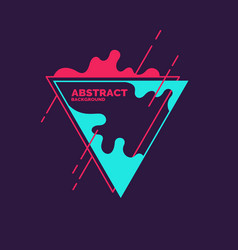 Abstract blobs and geometric shapes vector