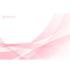 Abstract modern light pink wave element on white vector