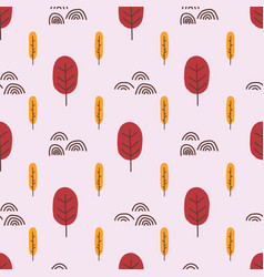 abstract trees seamless pattern repeating vector image