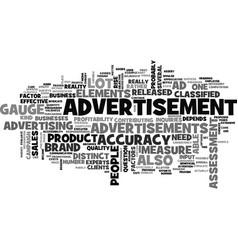 Advertisement how effective is it text word cloud vector