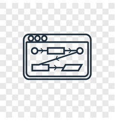 algorithm concept linear icon isolated on vector image