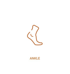 Ankle concept 2 colored icon simple line element vector
