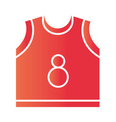 basketball game jersey equipment template vector image