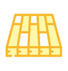 Batten floor color icon vector