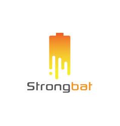 battery logo design symbol technology vector image