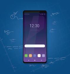Bezel less smart phone new gadget review vector