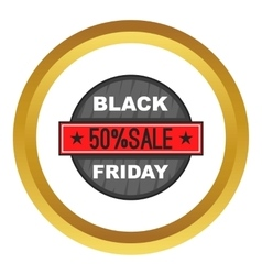 Black Friday 50 off icon vector