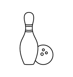 Bowling line icon vector image