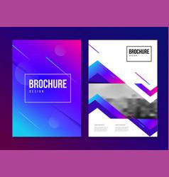brochure template with trend gradien vector image