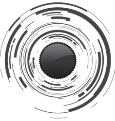 camera dot vector image