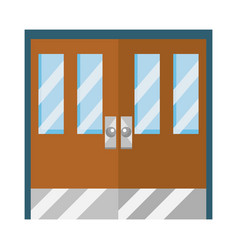 Classroom door school design vector