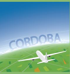Cordoba flight destination vector