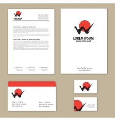 Corporate Identity mountains and sun Mountain - vector