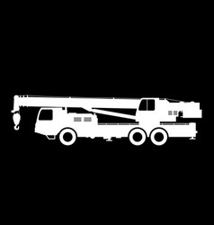 crane silhouette on a black background vector image