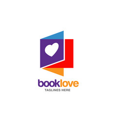 Creative book lover logo vector