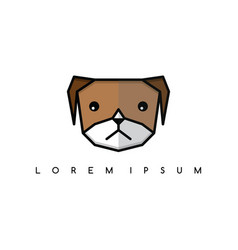 Cute dog puppy animal head logo theme vector