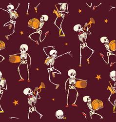 Dark red dancing and plating music vector