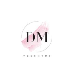 Dm d m watercolor letter logo design vector