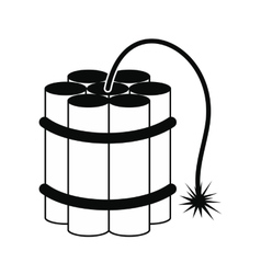 Dynamite sticks black icon vector