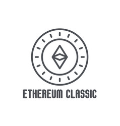 Etherium classic thin line icon vector